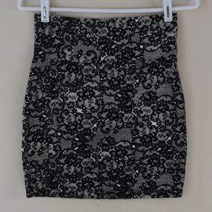 Charlotte Russe Size Medium Fold Over Waist Skirt